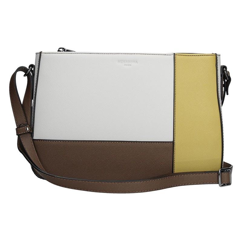 Dámska kabelka Hexagona 505238 - bielo-žltá