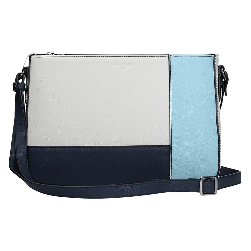 Dámska kabelka Hexagona 505238 - modro-biela