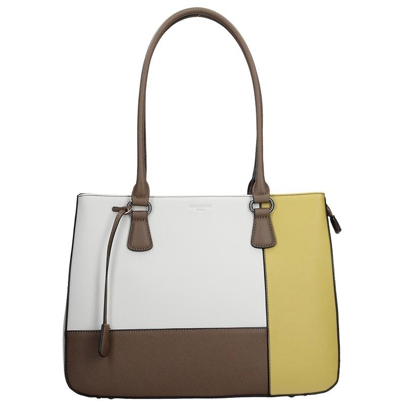 Dámska kabelka Hexagona 505239 - bielo-žltá