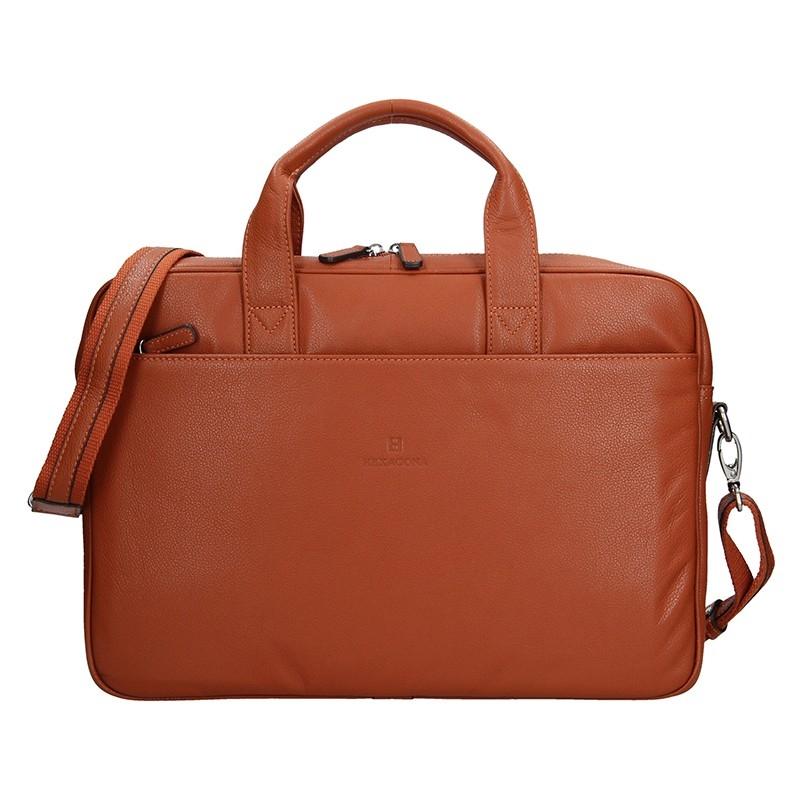 Pánska kožená taška cez rameno Hexagona Tango - oranžová