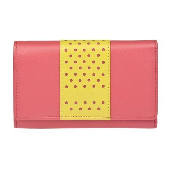 Dámska kožená peňaženka Lagen Livia - ružová