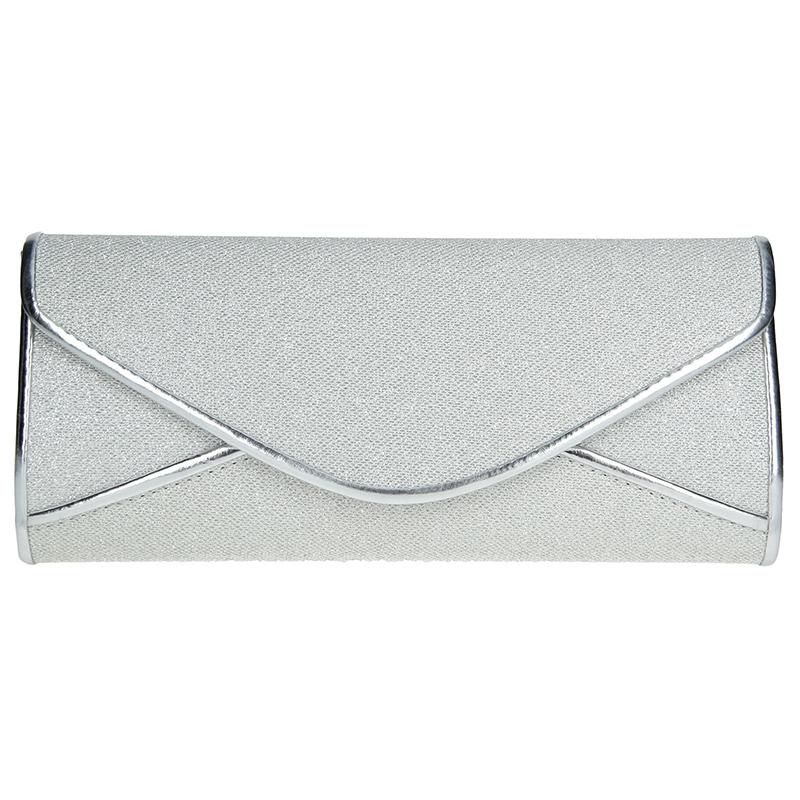 Elegantna damska listova kabelka Anekta Beata - strieborná