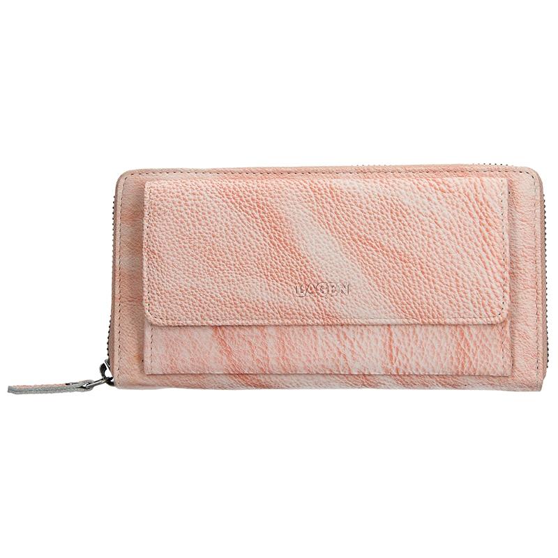 Dámska kožená peňaženka Lagen Maria - lososová
