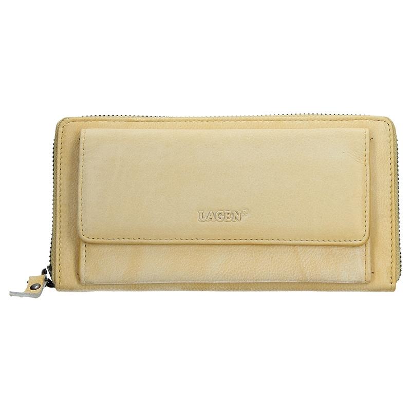 Dámska kožená peňaženka Lagen Maria - žltá