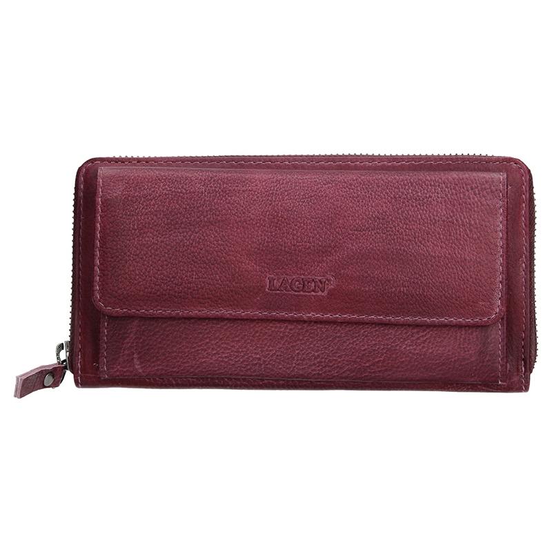 Dámska kožená peňaženka Lagen Maria - fialová
