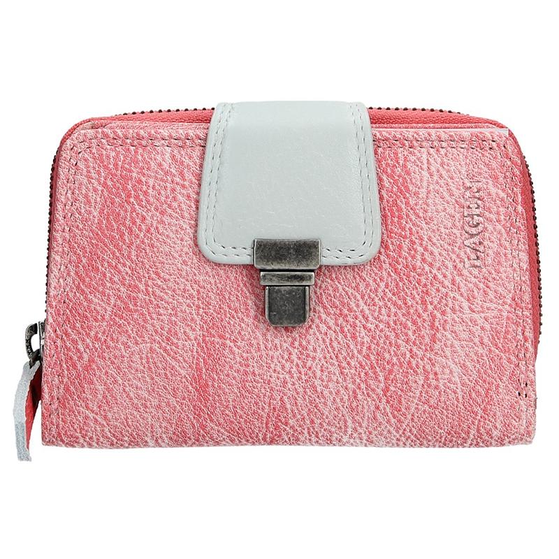 Dámska kožená peňaženka Lagen Lea - ružová