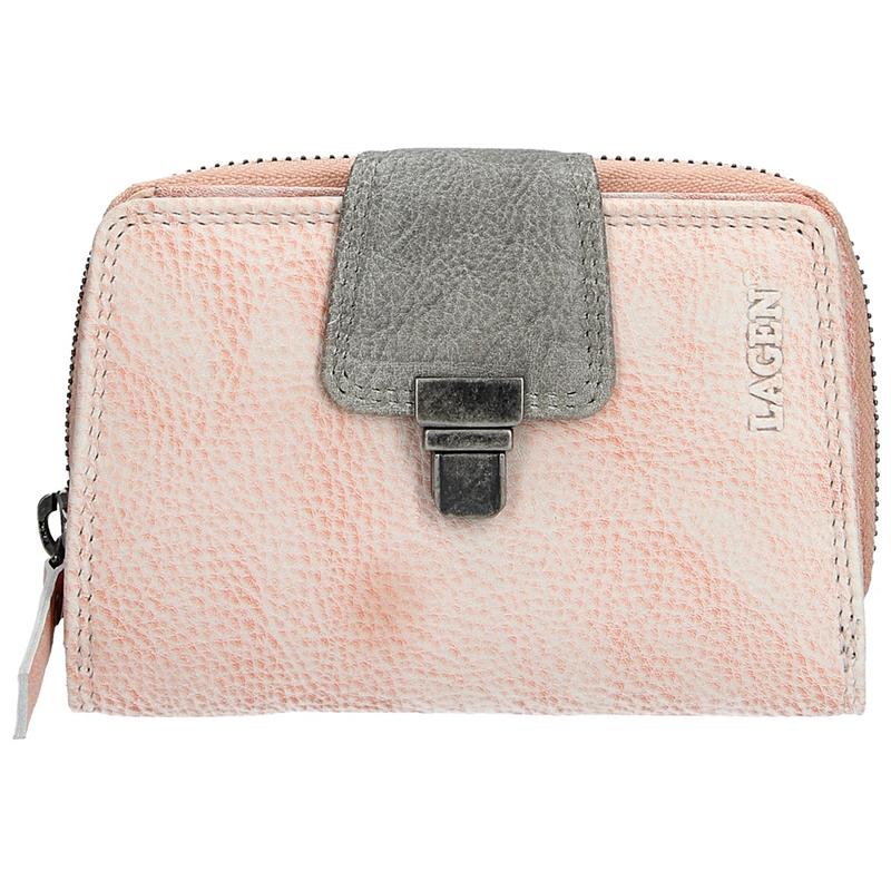 Dámska kožená peňaženka Lagen Lea - svetlo ružová