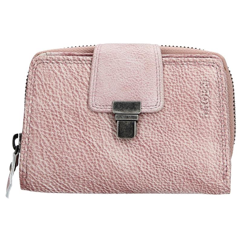 Dámska kožená peňaženka Lagen Lea - fialová