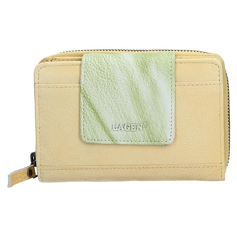 Dámska kožená peňaženka Lagen Agáta - žlto-zelená