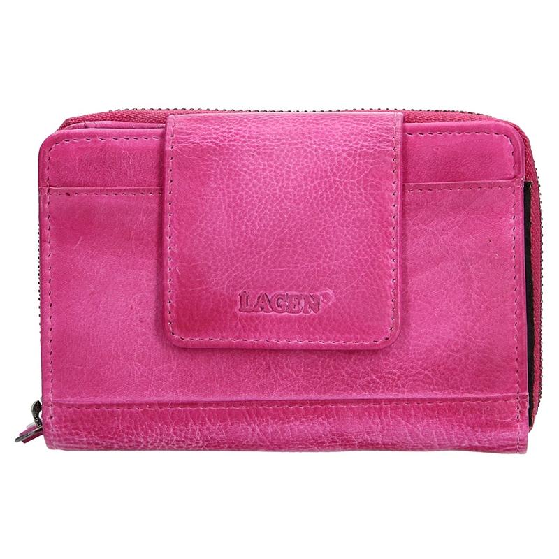 Dámska kožená peňaženka Lagen Agáta - ružová