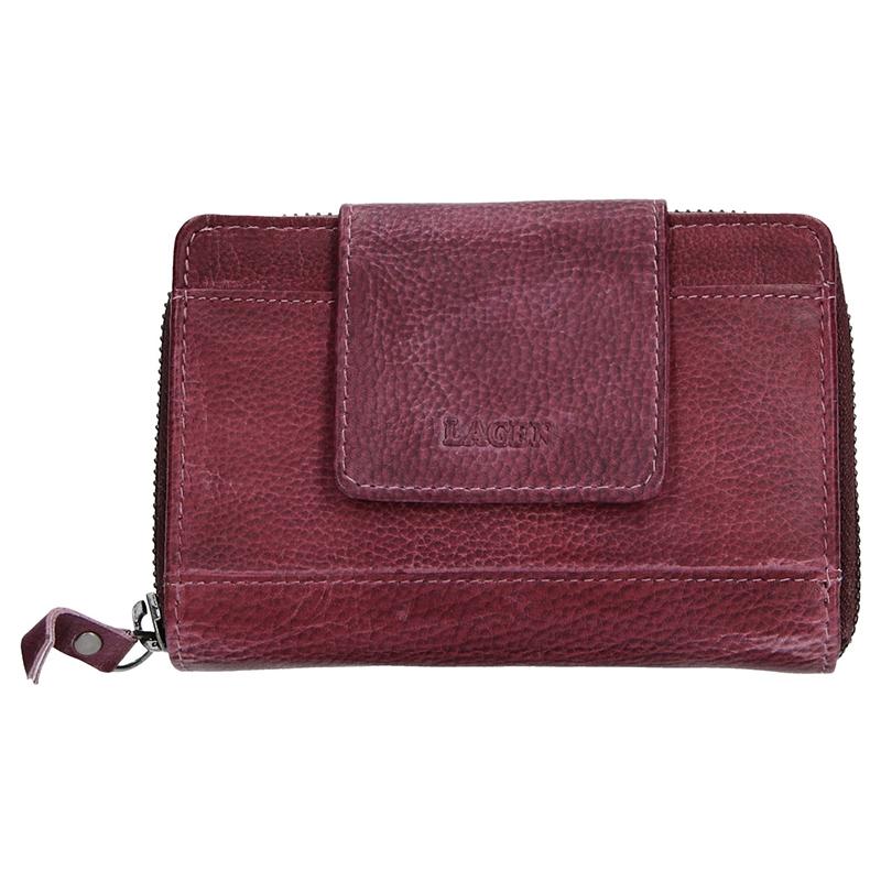 Dámska kožená peňaženka Lagen Agáta - fialová