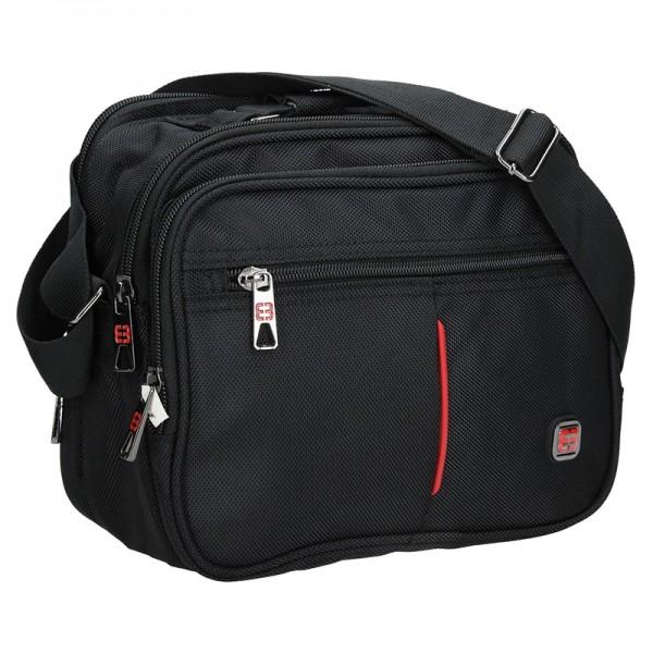 Pánska taška cez rameno Enrico Benetti Boston - čierna
