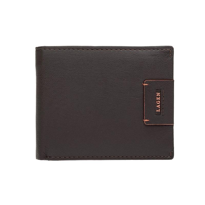 Pánska kožená peňaženka Lagen Tristan - hnedá