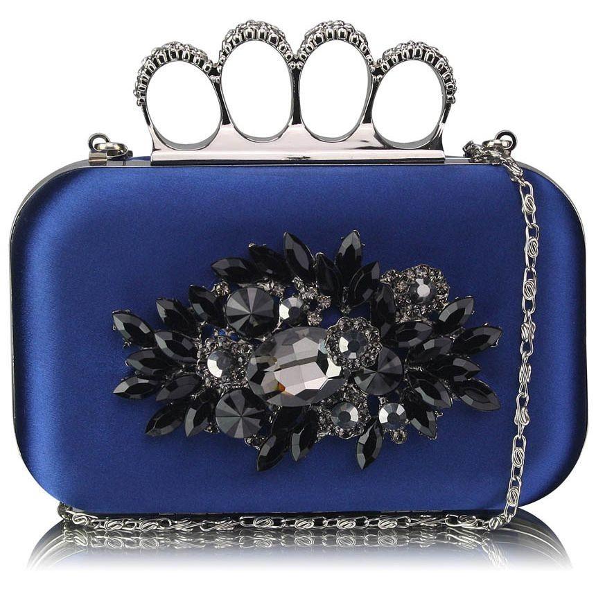 Dámska listová kabelka LS Fashion Crystal- modrá