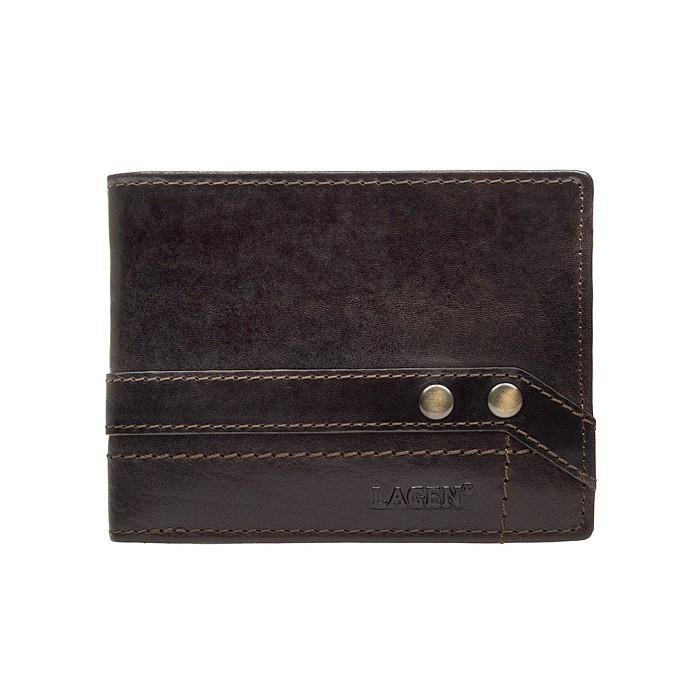 Pánska kožená peňaženka Lagen Jarko - hnedá