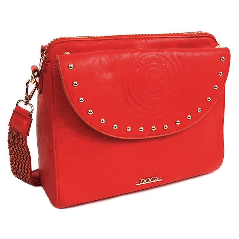 Dámska crossbody kabelka Doca Amanda - červená