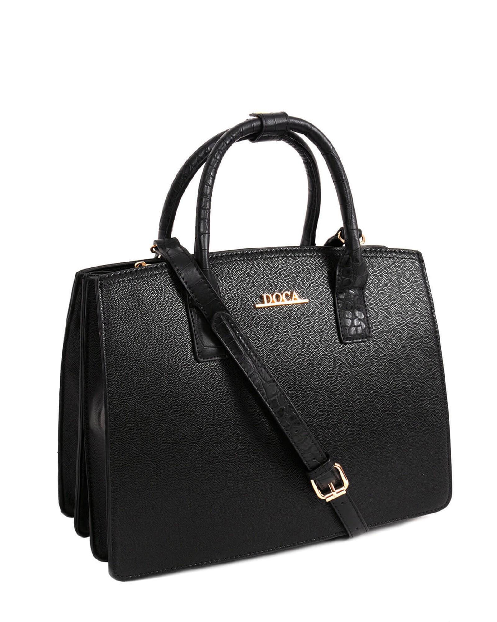 Dámská kabelka Doca 13241 - černá.