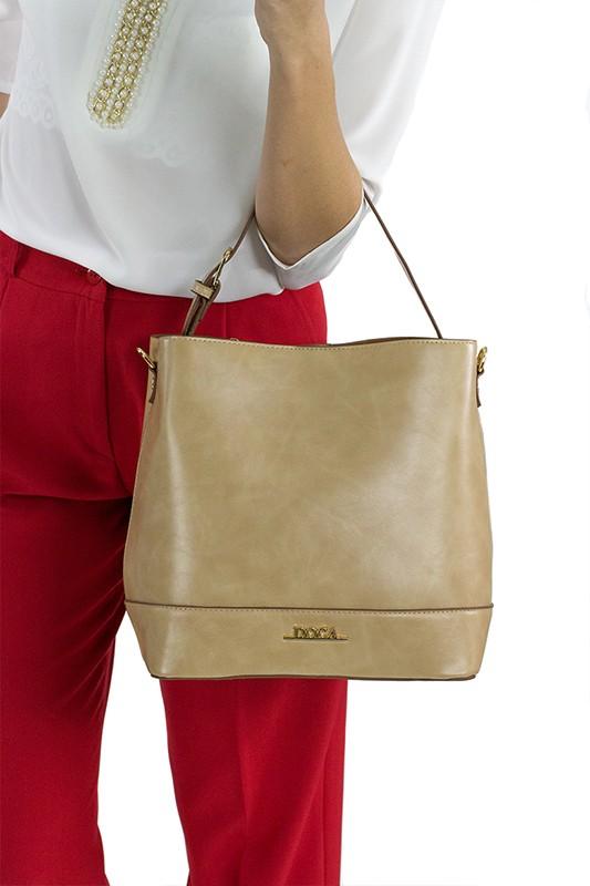 Dámska kabelka Doca 13374 - béžová.