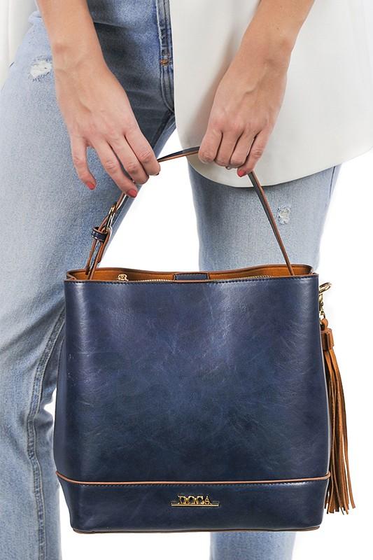 Dámská kabelka Doca 13375 - modrá.