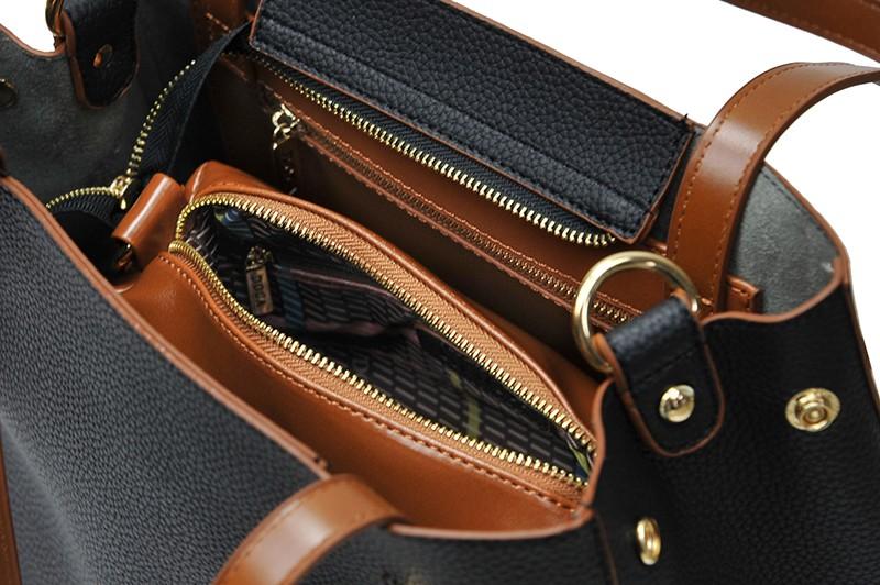 Dámska kabelka Doca 13404 - čierna.