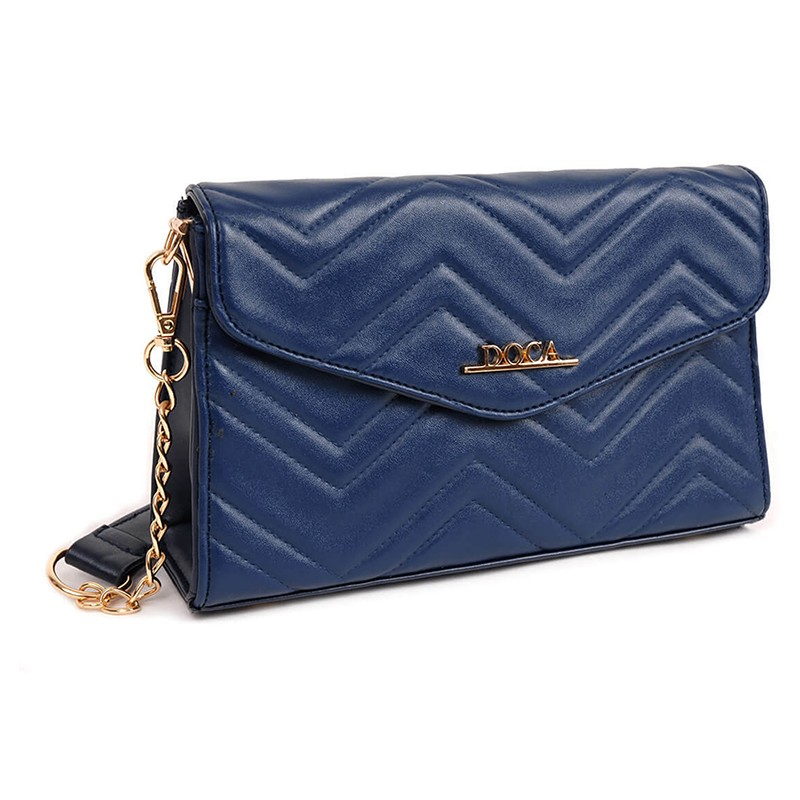 Dámska crossbody kabelka Doca 13446 - modrá