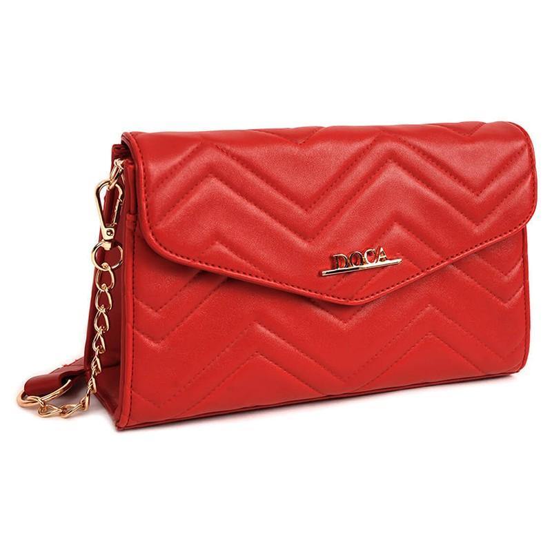 Dámska crossbody kabelka Doca 13447 - červená.