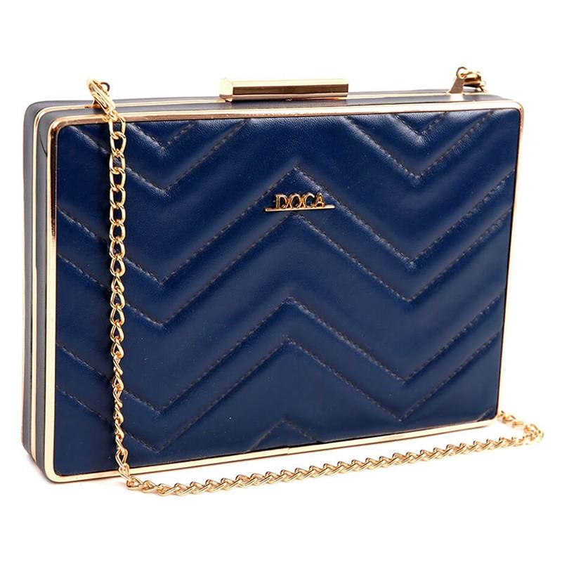 Dámská listová kabelka Doca 13648 - modrá.