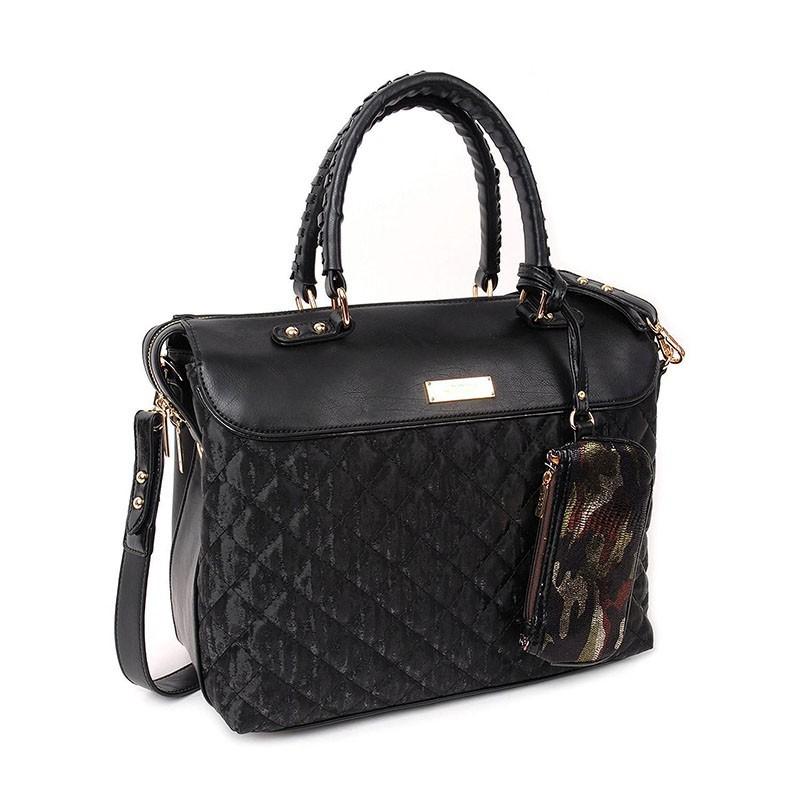 Dámska kabelka Doca 12890 - čierna