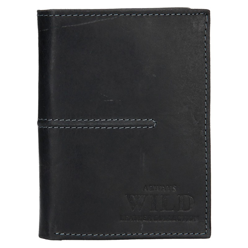 Pánska kožená peňaženka Always Wild Romelu - čierna