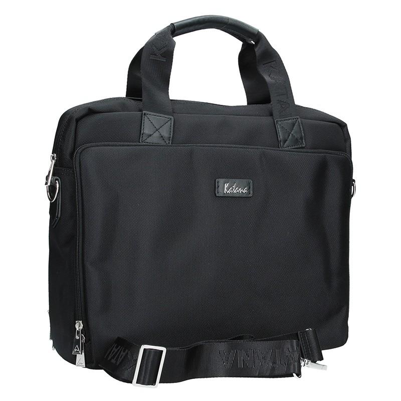 Pánska kožená taška cez rameno Katana Selem - čierna