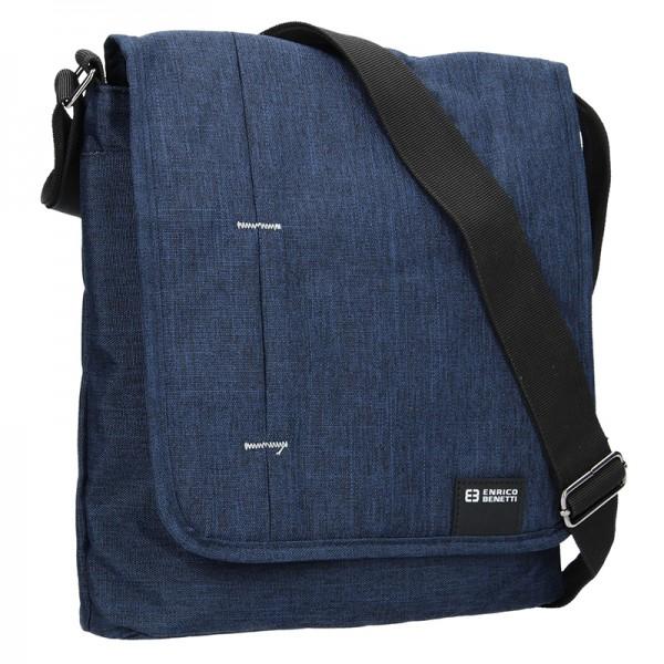 Pánska taška cez rameno Enrico Benetti Eric - modrá