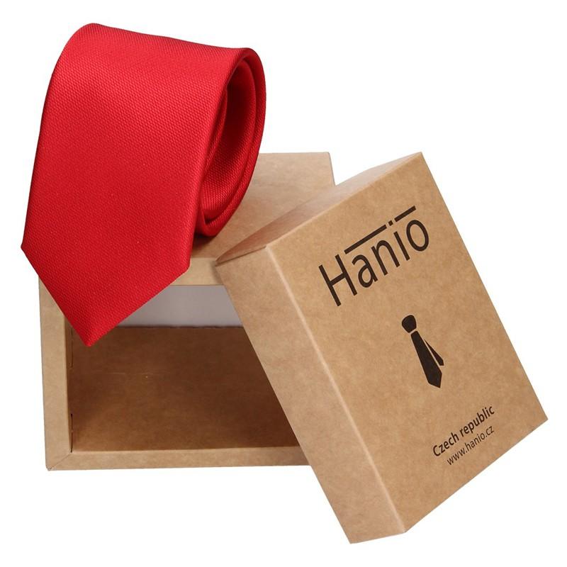 Pánska hodvábna kravata Hanio Oliver - červená