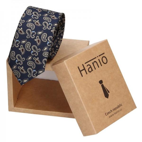 Pánská hedvábná kravata Hanio Tyler - modrá