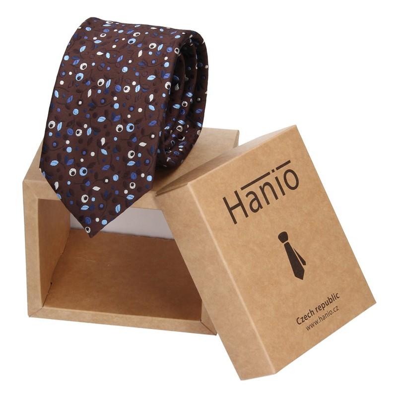 Pánska kravata Hanio Gavin - hnedá
