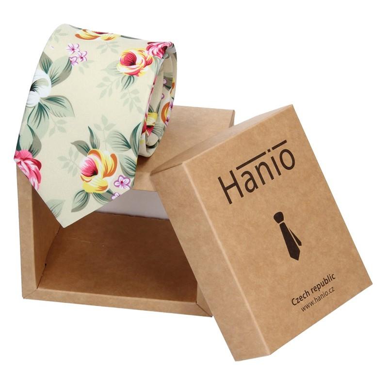 Pánska hodvábna kravata Hanio Lucas - zelená