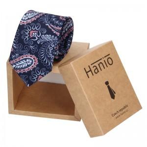 Pánská hedvábná kravata Hanio Dylan -modrá