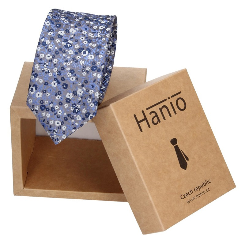 Pánska kravata Hanio Owen - modrá