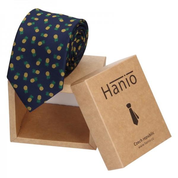 Pánská hedvábná kravata Hanio Justin - modrá