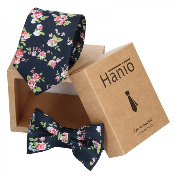 Sada kravata a motýlek Hanio K0155