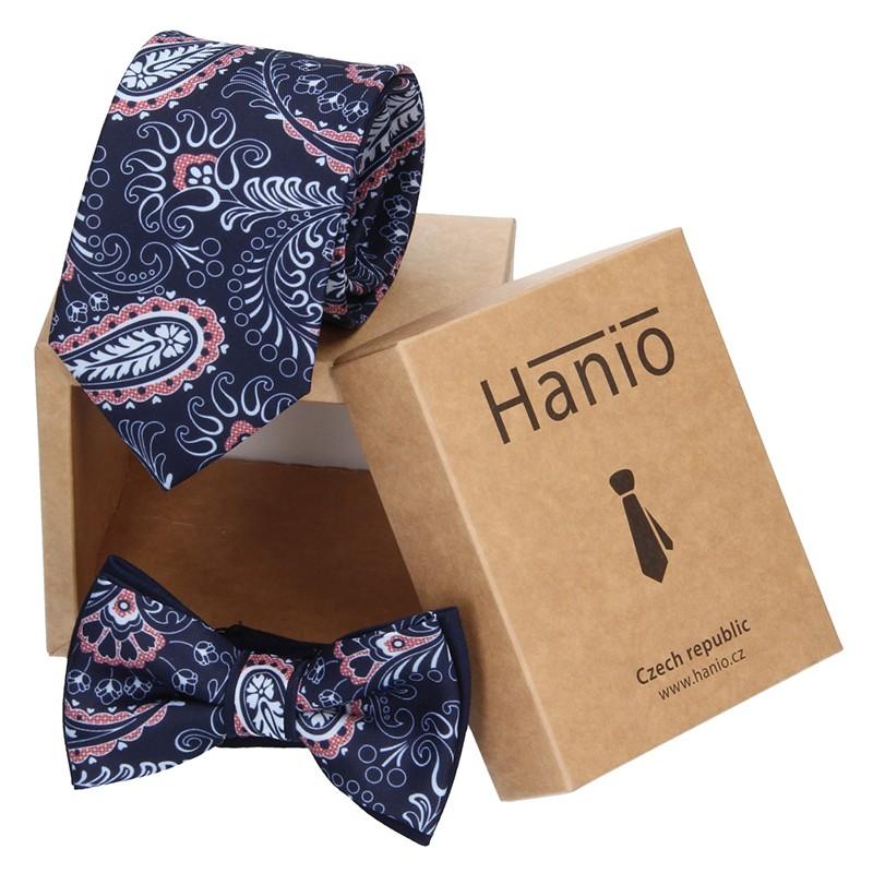 Sada kravata a motýlik Hanio K0366