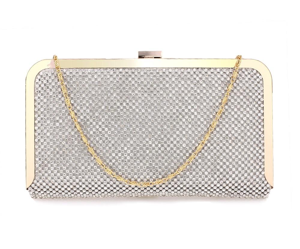 Dámska listová kabelka LS Fashion Helen - strieborná