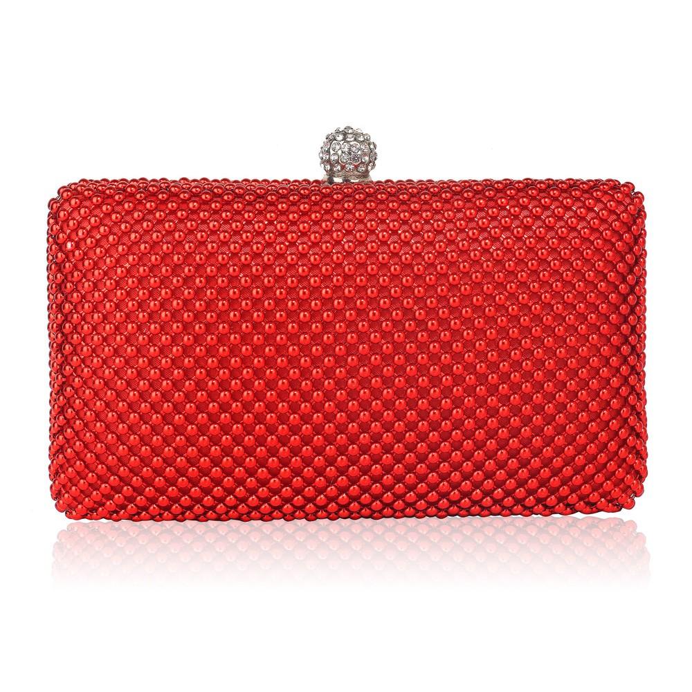 Dámska listová kabelka LS Fashion Charlotte - červená