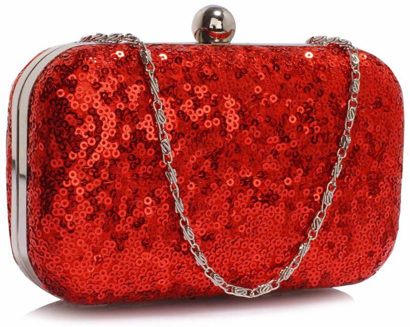 Dámska listová kabelka LS Fashion Gloss - červená