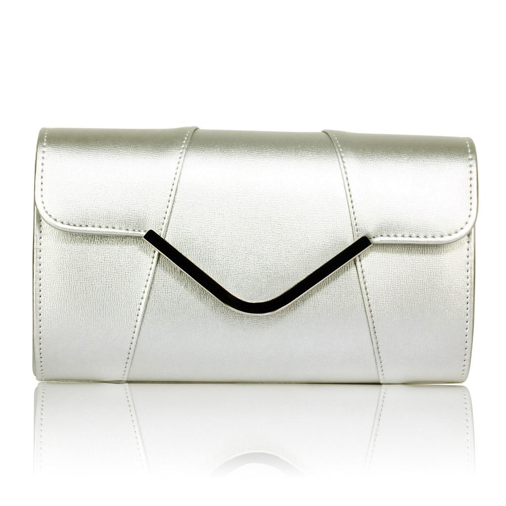 Dámska listová kabelka LS Fashion Shine - strieborná