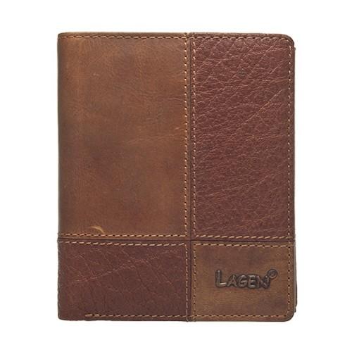 Pánska kožená peňaženka Lagen Apolo - hnedá