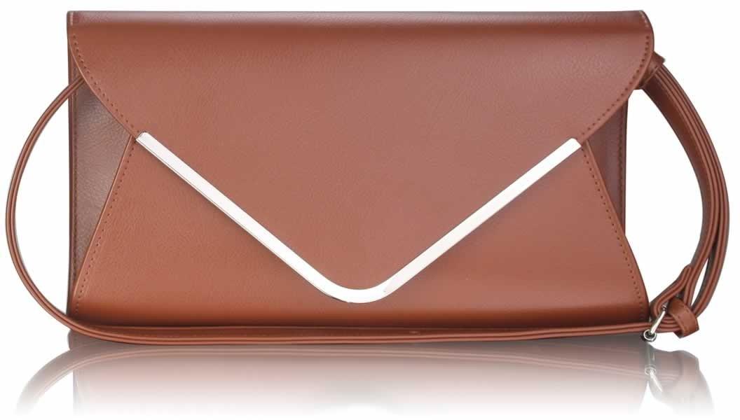 Dámska listová kabelka LS Fashion - hnedá