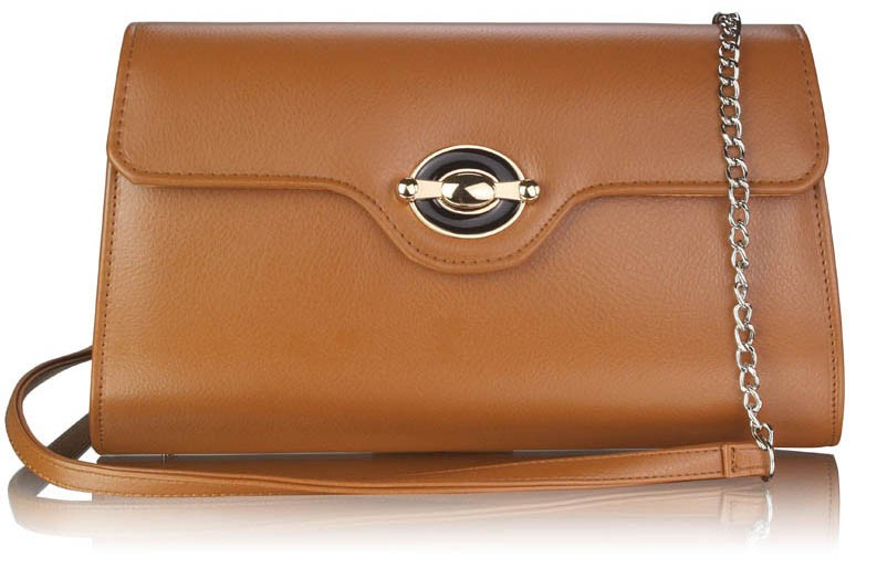 Dámska listová kabelka LS Fashion Jade - hnedá