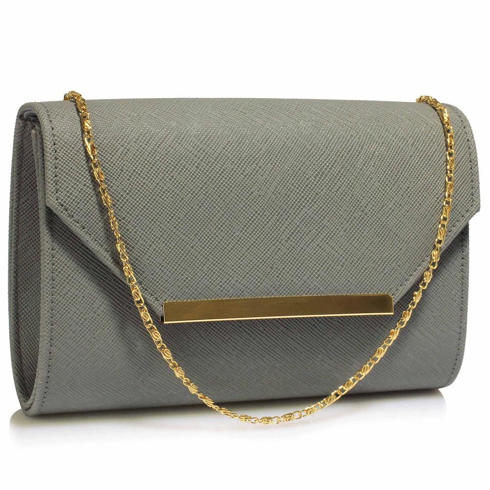 Dámska listová kabelka LS Fashion Anna - šedá