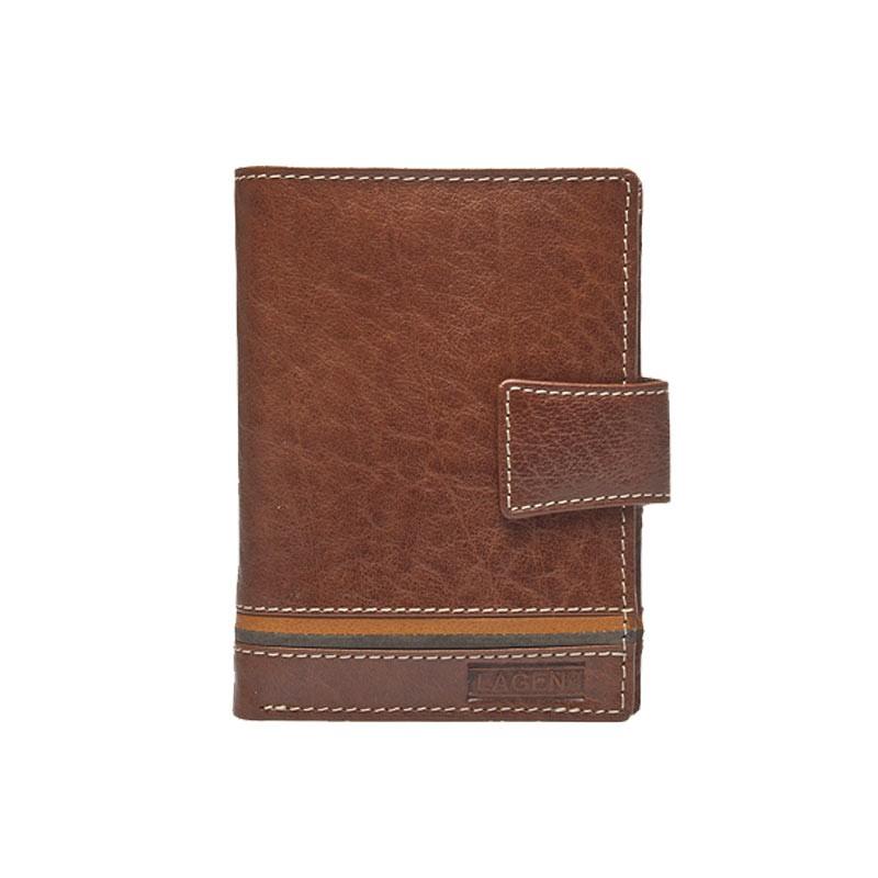 Pánska kožená peňaženka Lagen Agustus - hnedá