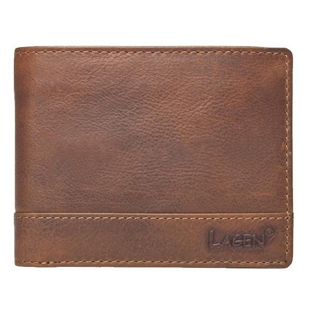 Pánska kožená peňaženka Lagen 1998 / V - hnedá